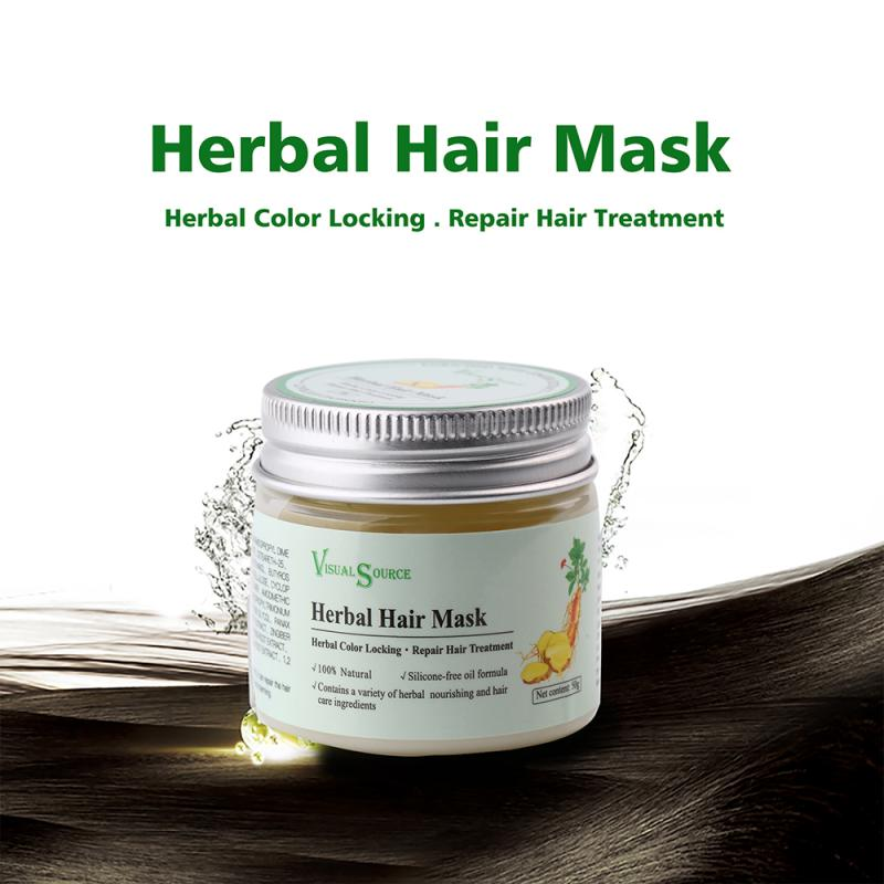 Hair Mask Magical Herbal Mask Ginger Ginseng Polygonum Multiflorum Angelica Sinensis Hair & Scalp Treatments Care 50g Gift TSLM1