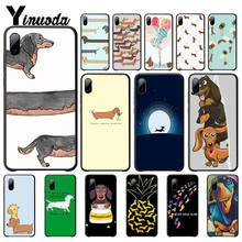 Yinuoda Animals Dogs Dachshund Cover Luxury Case For Iphone 5s Se 6 6s 7 8 Plus X Xs Max Xr 11 Pro Max Mobile Phone Accessories genuine leather phone case for iphone 11 11 pro max x xs max xr 7 8 plus 6 6s 7 plus se 2020 5s magnetic kickstand luxury cover