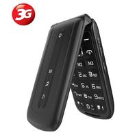 Ushing 3G Seniors Kids Big Button Unlocked New Mobile Phones with SOS, Easy To Use Dual Sim Flip Up Clamshell Keyboard Phone