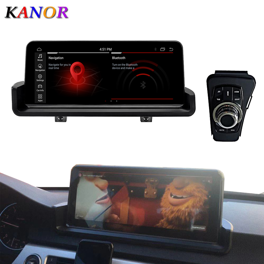 Kanor 10.25inch 4g+64g Android 10.0 Car Multimedia Player Gps Navigation With Idrive For Bmw E90 E91 E92 E93 image