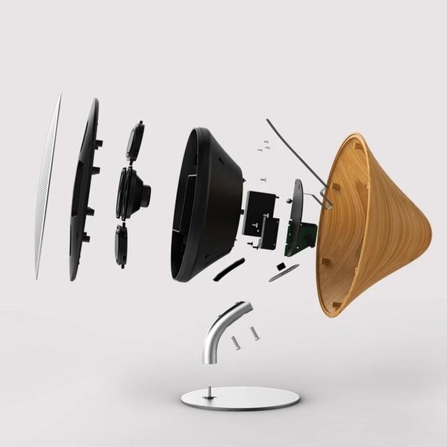Retro Bluetooth Lautsprecher im edlen Holz Look 4