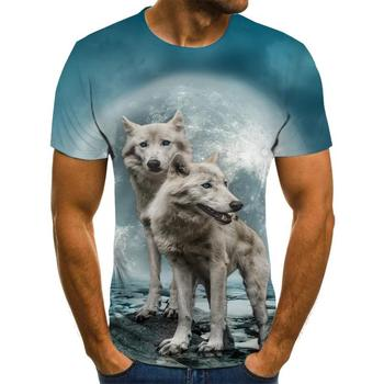 T Shirt Short Sleeve Boy/girl/kids Top Tees Men T-shirt Funny Wolf TShirt
