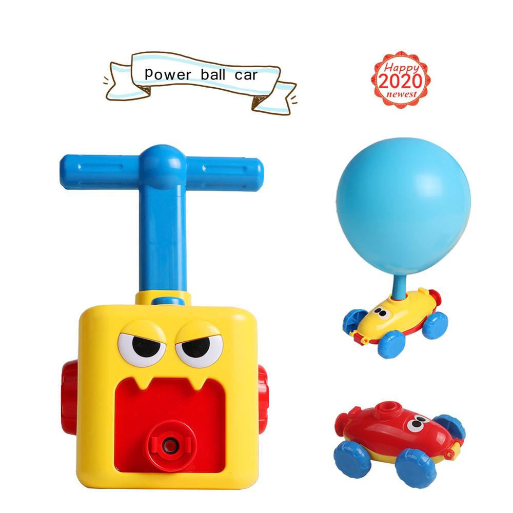 Inertial Power Ball Car Balloon Pump Hand Push Mini Plastic Inflator Air Pump Power Science Experiment Toy