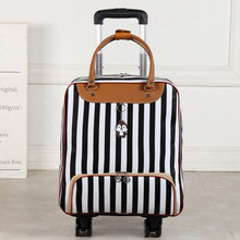 Waterproof High Oapacity Travel Bag Thick Style Rolling Suitcase Trolley Luggage Lady Men Trip Bags Suitcase With Wheels Suplies(China)