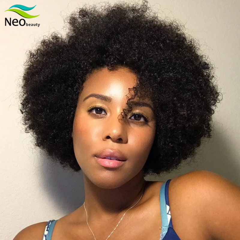 Short Afro Nature Dream Kinky Curly 100% Human Hair Wigs Cheap Human Hair Wig For Party Dance Cosplay