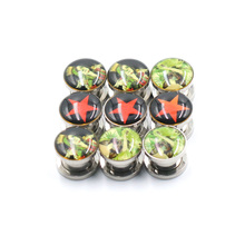 1pcs Ear Plugs Tunnels Screw  Earrings Gauges Kits Piercings Body Stretchers Taper For Women