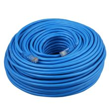 Промо-акция! Плоский CAT6 Ethernet 100 м/1000 Мбит/с соединительный кабель сетевой RJ45 PLAT в оптовой продаже от 5 м до 50 м Длина: 50 м Cat6