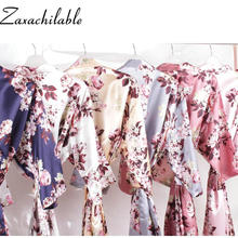New Floral satin robe bridal party gift robes silk