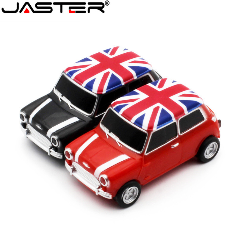 JASTER Red Car Model Pendrive 4GB 8GB 16GB 32GB 64GB USB 2.0 USB Flash Drive Memory Stick Pen Drive Gift U Dick Free Shipping