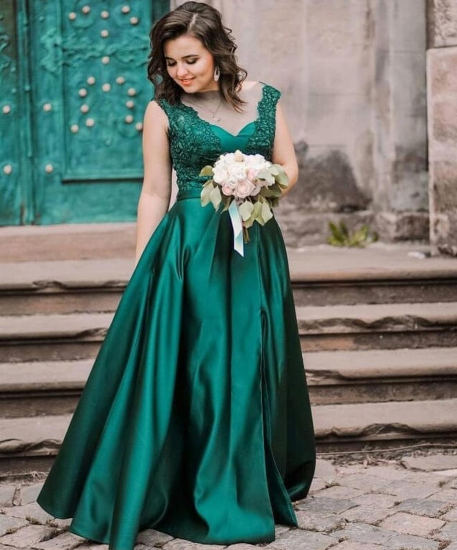 10066 21 De Descuento2020 Prom Vestido Para Mujer Vestidos De Fiesta Largos Elegantes De Gala Satin Verde Prom Vestidos Largo Vestido Para El