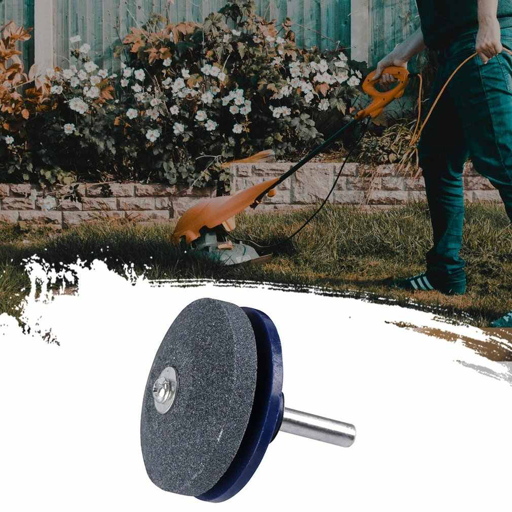 Rüzgar elektrikli bıçak bileyici çim biçme makinesi kalemtıraş endüstriyel Whetstone zımpara kahverengi korindon çim biçme makinesi kalemtıraş