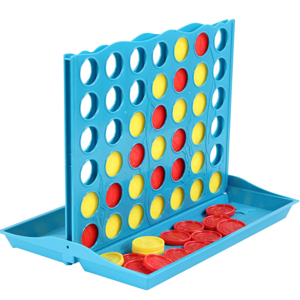 3D Four-Game Chess Game Development Toy Children Educational Learning Toys Mastermind Intelligence Chess Foldable Frame Game