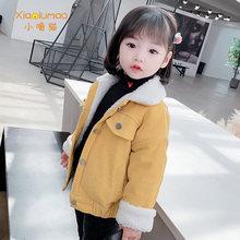 Пальто для девочек Вельветовая куртка с вышивкой детская одежда