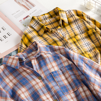 Vintage Plaid Oversized Blouse Shirt 2
