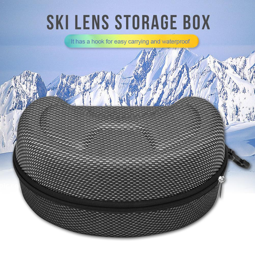 EVA Snow Ski Eyewear Case Snowboard Skiing Goggles Sunglasses Carrying Case Zipper Hard Box Holder(no Goggles)