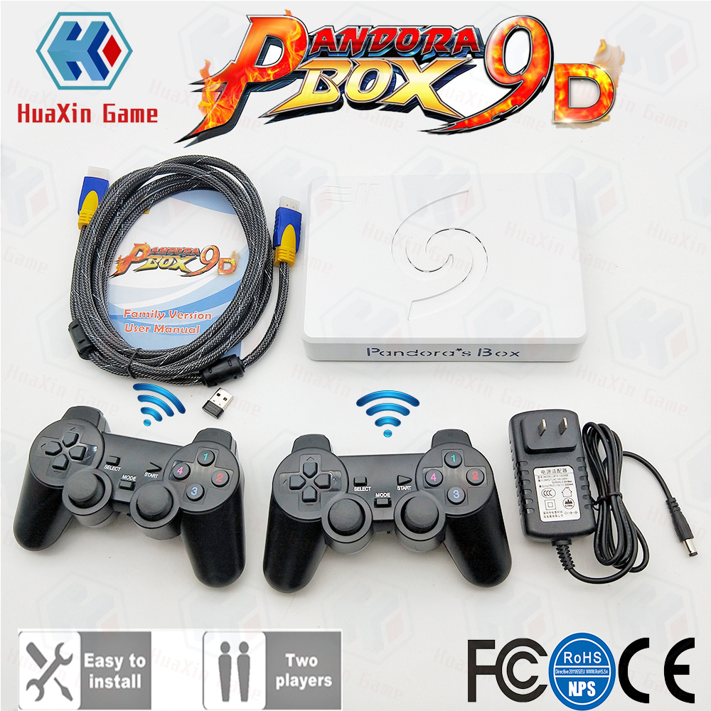 2 Players Wireless Version Pandora Box 9D 2500 In 1 Motherboard HDMI/VGA Output + Gamepad Set USB Connect Joypad 3D Games Tekken