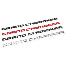 Oem para jeep srt grand cherokee frente esquerda & direita porta lateral emblema placa de identificação logotipo letras etiqueta