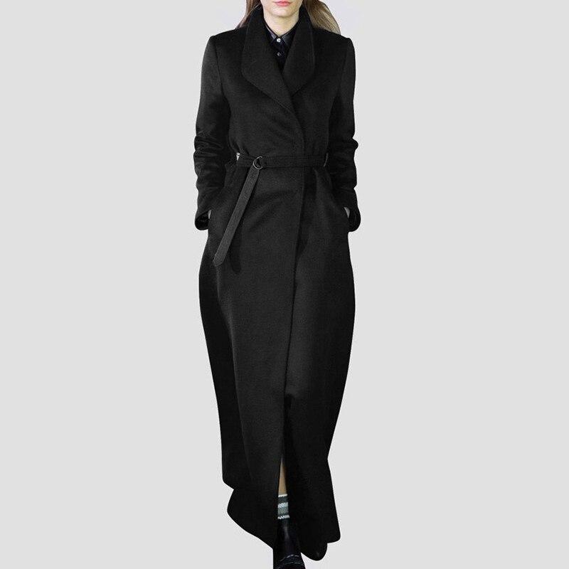 New Fashion Style Bandage Woolen Coat Fashion Nova Clothing