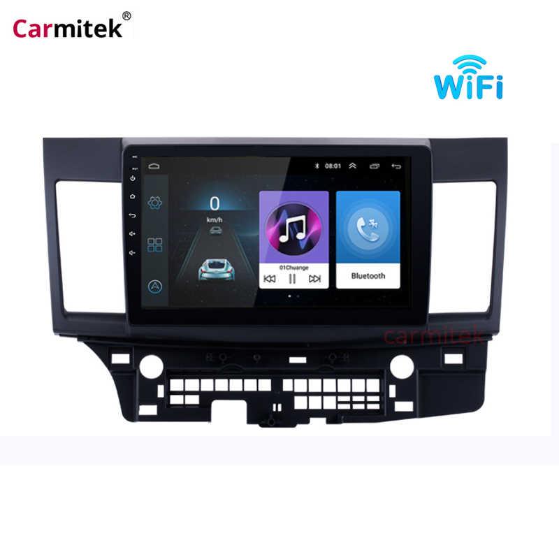 """10.1 """"Android 9.0 รถวิทยุเครื่องเล่นมัลติมีเดียสำหรับ Mitsubishi Lancer 2007-2012 WIFI บลูทูธ GPS นำทางหน่วย"""