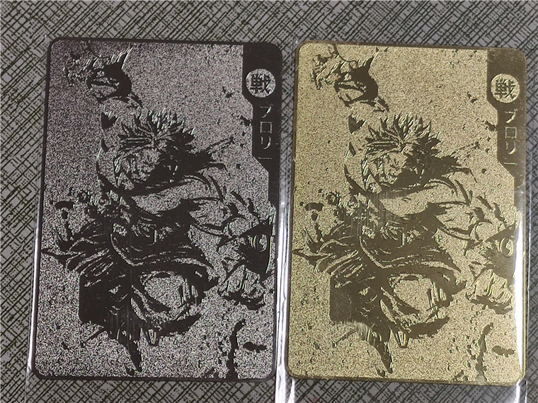 Super Dragon Ball Z Broli Gold Silver Heroes Battle Card Ultra Instinct Game Collection Cards