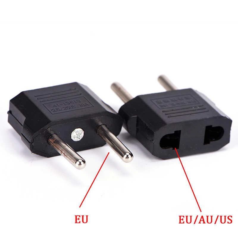 새로운 도착 2 라운드 소켓 핀 미국 AU eu에 EU 플러그 여행 벽 AC 전원 충전기 콘센트 어댑터 케이블 변환기 도매