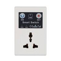 Profissional reino unido/ue 220 v telefone rc controle remoto sem fio interruptor inteligente gsm tomada de alimentação para eletrodomésticos|Automação predial| |  -