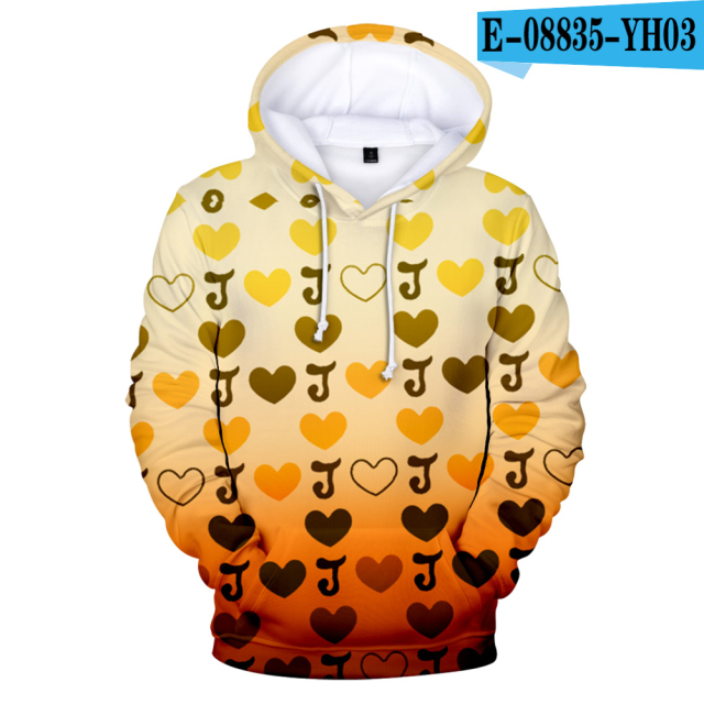 Harajuku Lovely 3D Print Jojo's Bizarre Adventure Hoodie Sweatshirts Teenage Pullover Long Sleeve Men/Women Hooded Autumn Coat
