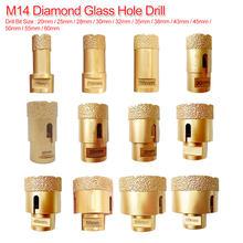 Brocas de perforación de diamante soldado al vacío M14, 20mm-60mm, brocas de diamante seco para cortadora de orificios en baldosas, brocas de perforación de piedra, broca de corona