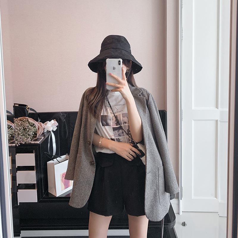 Mishow Loose Female Coats Elegant Women Short Coats Cloak Cape MX19A6464