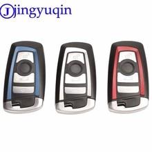 Jingyuqin 4B inteligentny klucz obudowa na telefon Keyless dla BMW 1 3 5 serii F10 F20 F30 F40 z Uncut pusty klucz