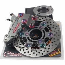 Motorcycle Front Brake System Kit 40mm Brake Calipers + 220mm Brake Discs for YAMAHA Kawasaki bws