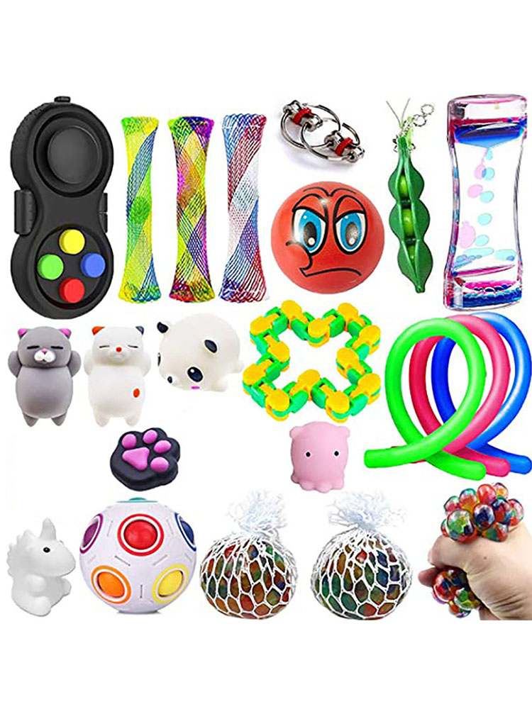Fidget Sensory Toys Set Anti Stress Marble Ball Autism Anxiety Relief Stress Squeeze img2