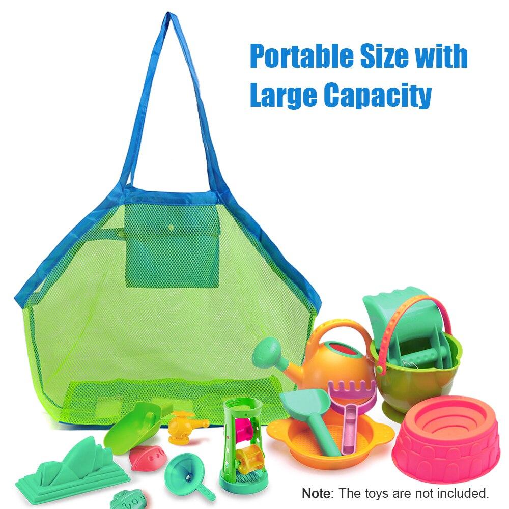 Foldable Portable Beach Bag Kids Children Mesh Storage Bag Outdoor Beach Park Swimming Toys Towel Clothes Organizer Swimming Bag