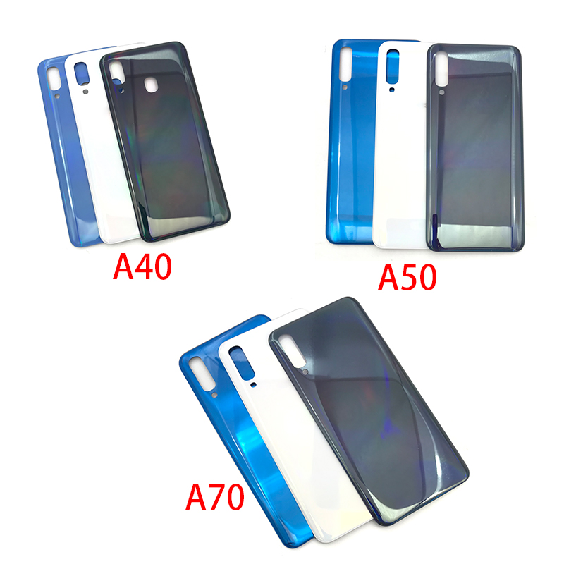 New Back Glass Rear Cover For Samsung Galaxy A40 A50 A70 A405F A505F A705F Battery Door Housing Battery Back Cover