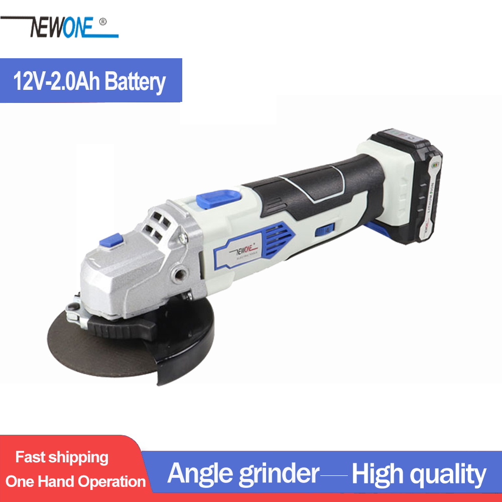 NEWONE 12V Angle Grinder with 2000mAh Lithium-Ion M10 Angular Power Tool cordless Cutting and grinding Machine