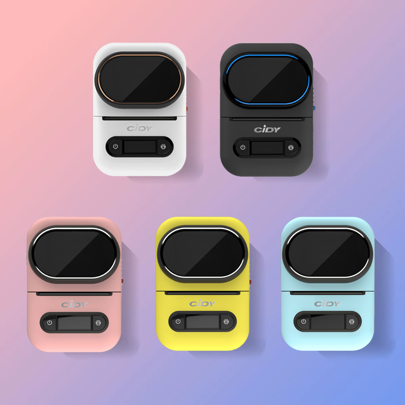 CIDY EQ11 Mini Pocket Label Printer Bluetooth Portable Handheld Thermal Photo Printer For Home Use Mobile Phone Android And IOS