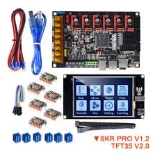 BIGTREETECH SKR PRO V1.2 с сенсорным экраном TFT35 V2.0 TMC2208 UART TMC2209 TMC2130, драйвер, 6 шт., комплект для 3D принтера VS SKR V1.3