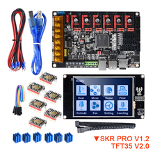 Bigtreetech Skr Pro V1.2 Met TFT35 V2.0 Touch Screen TMC2208 Uart TMC2209 TMC2130 Driver 6Pcs 3D Printer Board Kit vs Skr V1.3