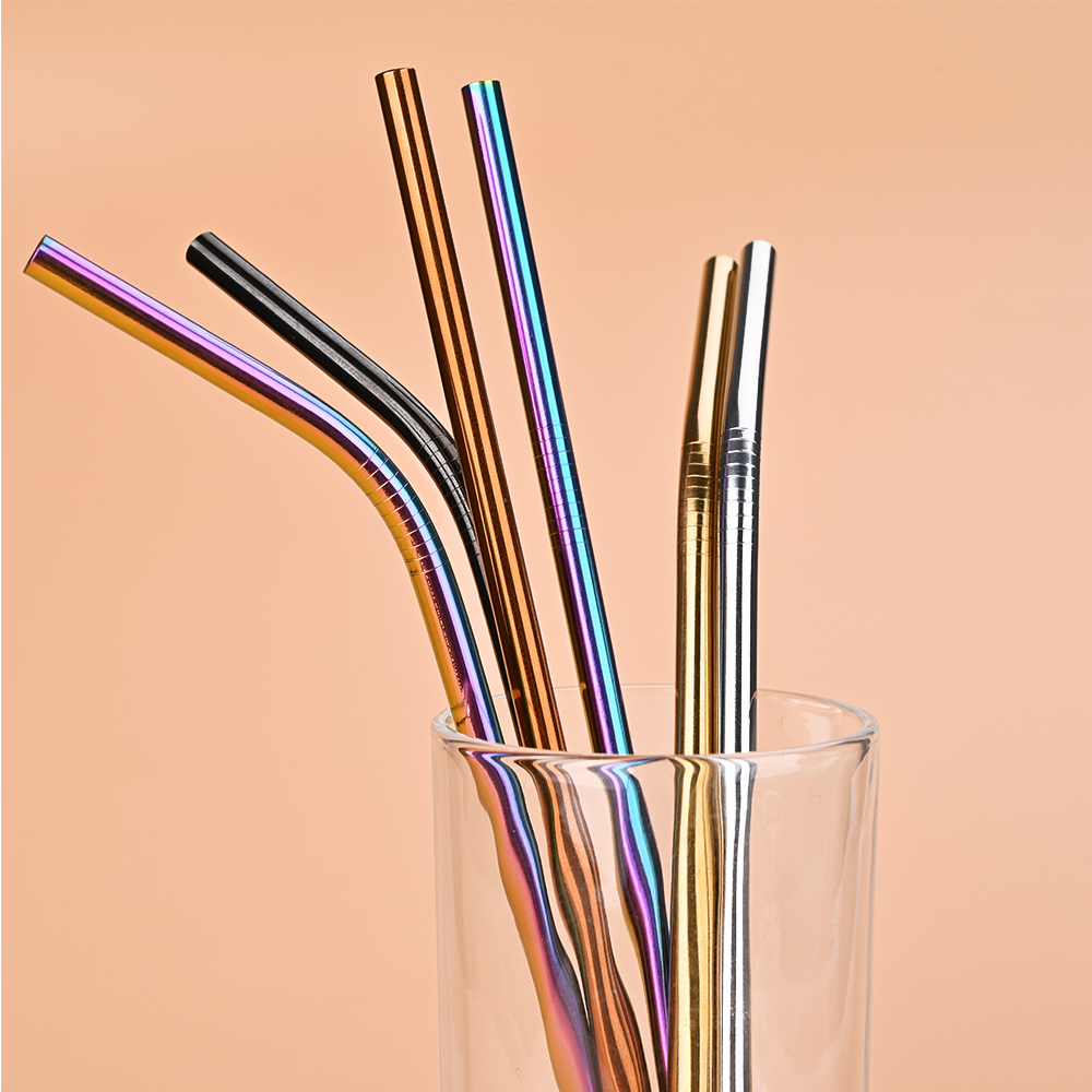 8.46'' Reusable Straw Perfect for Drinking Cold Beverage/sipping cocktail/coffee/ice 1