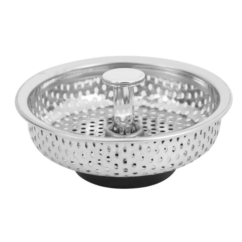 Stainless Steel Mesh Kitchen Sink Plug Filter Cover Bathroom Basin Drainer