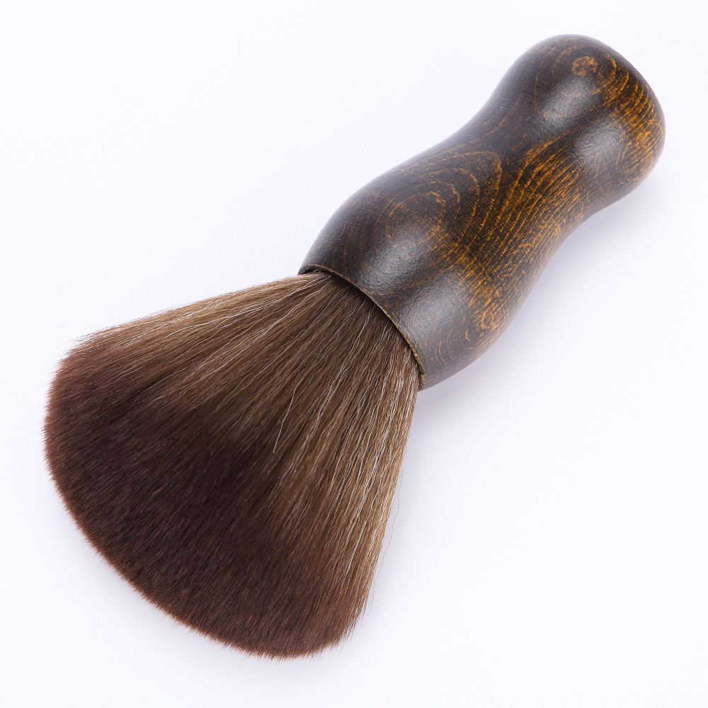 Anti-slip Bushy Soft Hair Cutting Brush Washable Stylist Durable Wood Salon Neck Duster Barber Tool Hairdressing