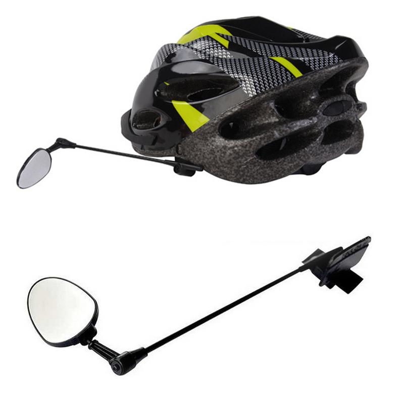 1 Pc Bike Helmet Rear View Mirror 360-degree Adjustable Rotatable Bicycle Rearview Glass Parts Accessory
