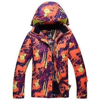 Chaquetas de esquí ARCTIC QUEEN para mujer y hombre, chaquetas de esquí para nieve, ropa deportiva de invierno para exteriores, chaqueta de snowboard, cálida, transpirable, impermeable