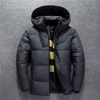 Winter Down Coat Hooded Outdoor Parka coat duck down winter black thermal Thick men dwn jacket outwear windbreaker