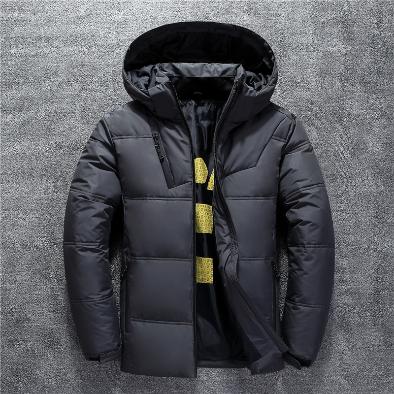 Winter Down Coat Hooded Outdoor Parka Coat Duck Down Winter Black Thermal Thick Men Dwn Jacket Outwear Windbreaker