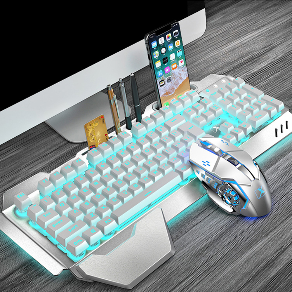 K680 Rechargeable Wireless Keyboard Mouse Set Esports Game Backlit Keyboard Multimedia Combination Gaming Keyboard Gaming Mouse