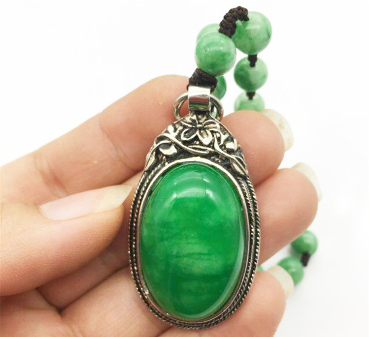 100% Real Jade Pendant Natural Jadite Green Jade Pendant Jade Jewelry Necklace Jade Gift For Friends Sterling Silver Jewelry