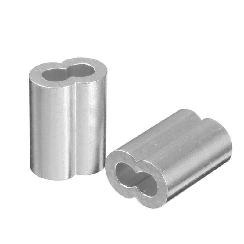200 шт. Диаметр троса, рукава из алюминиевого сплава, зажимные фитинги, щипцы для кабеля-100 шт., 3/32 дюйма (3,0 мм) и 100 шт., 5/64 дюйма (2 мм)