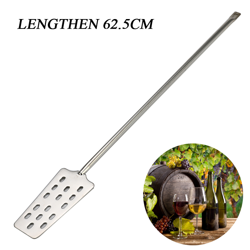 62.5cm Stainless Steel Wine Stirrer Paddle Wine Mash Tun Mixing Stirrer Paddle Home Kitchen Bar Beer Brewing  For HomeBrew