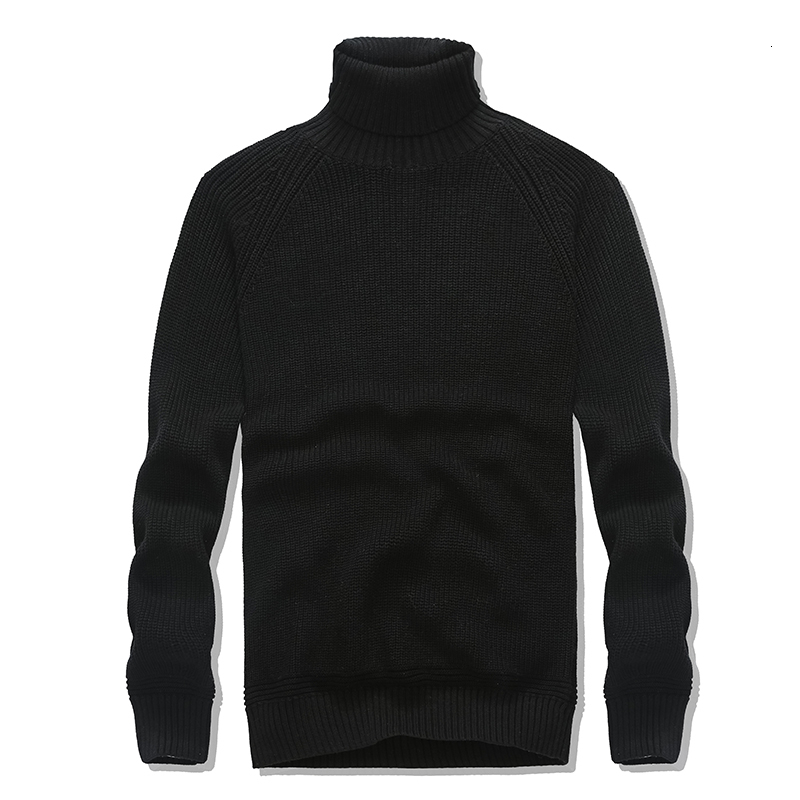 2019 Winter Men Turtleneck Sweater Long Sleeve 100% Cotton Casual Style Warm Clothes Pullover Sweater Pure Color For Male Hot